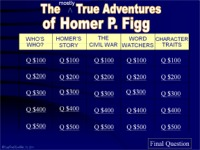 Kids 39 wings activities for the mostly true adventures of for Homer p figg