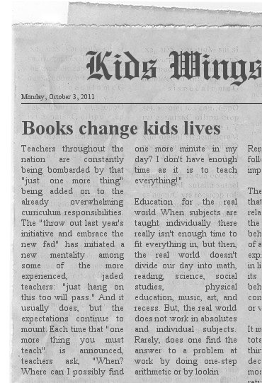 kids wings literature guide for the landry news by andrew